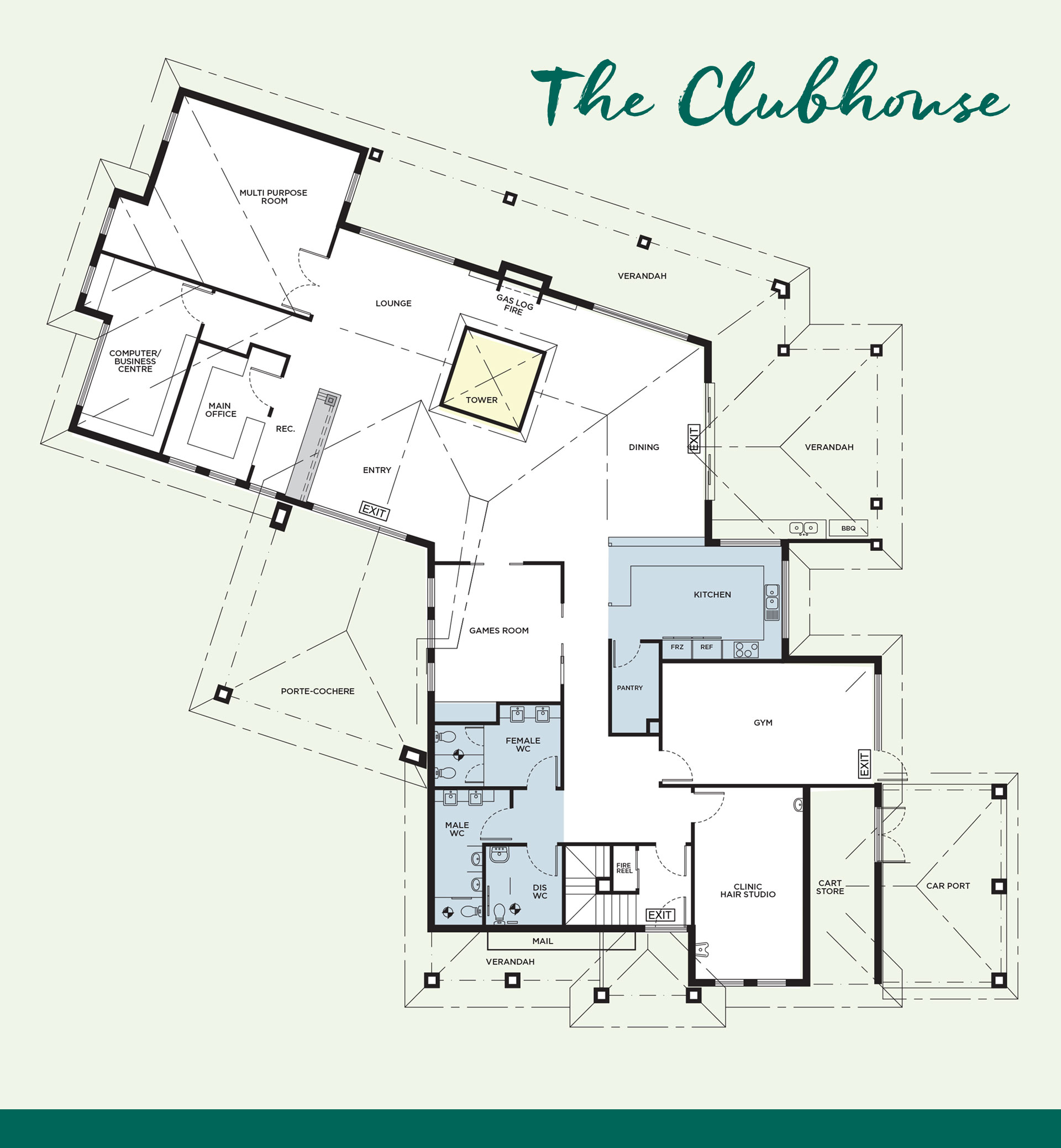 Club house 1920 pix floor plan master peninsula for Retirement village house plans